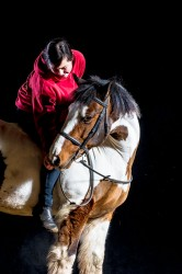 Horse and Rider Black Background Equine Portrait Photography Northampton Daventry Towcester Wellingborough Kettering