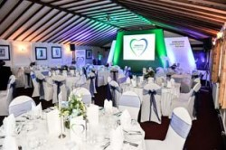 The function room of The Berkeley Worcester venue for the Community Heroes Awards 2014